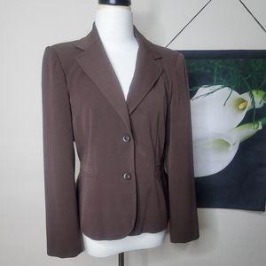 Apt. 9 Brown Fitted Blazer/Jacket